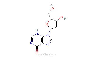CAS:890-38-0_2'-脱氧肌苷的分子结构