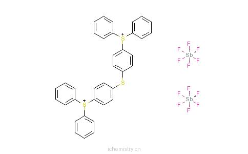CAS:89452-37-9_二[4-二苯基硫�f苯基]硫醚二六氟锑酸盐的分子结构