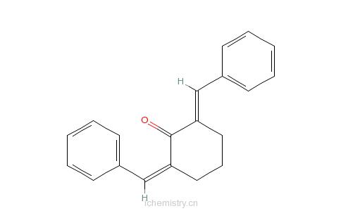 CAS:897-78-9_2,6-二苯亚甲基环己酮的分子结构