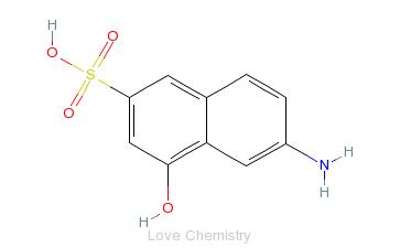 CAS:90-51-7_2-氨基-8-萘酚-6-磺酸的分子结构