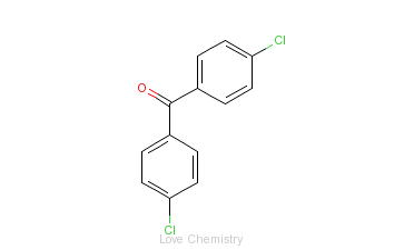 CAS:90-98-2_4,4'-二氯二苯甲酮的分子结构