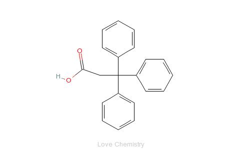 CAS:900-91-4_3,3,3-三苯基丙酸的分子结构