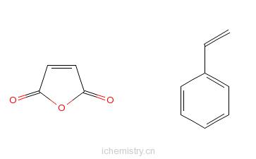CAS:9011-13-6_苯乙烯与顺丁烯二酸酐的共聚物的分子结构