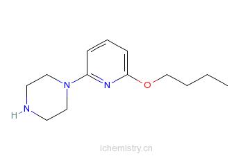 CAS:902837-07-4_1-(6-丁氧基-2-吡啶基)哌嗪的分子结构