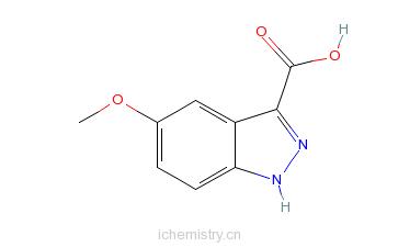 CAS:90417-53-1_5-甲氧基-3-吲唑羧酸的分子结构