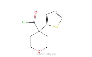 CAS:906352-92-9_四氢吡喃-4-羧酸噻吩酯的分子结构