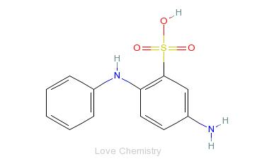 CAS:91-30-5_4-氨基二苯胺-2-磺酸的分子结构