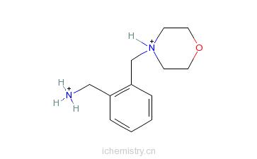 CAS:91271-82-8_1-[2-(吗啉-4-基甲基)苯基]甲胺的分子结构