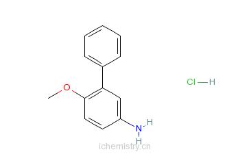 CAS:92028-21-2_3-苯基-4-甲氧基苯胺盐酸盐的分子结构