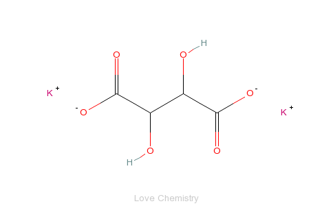 CAS:921-53-9_酒石酸钾的分子结构