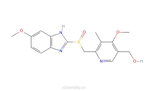 CAS:92340-57-3_5-羟基奥美拉唑的分子结构