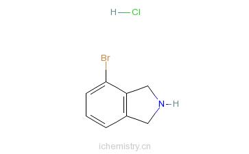 CAS:923590-95-8_4-溴异吲哚啉盐酸盐的分子结构