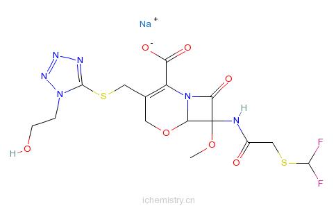 CAS:92823-03-5_氟氧头孢钠的分子结构