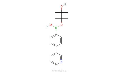 CAS:929203-04-3_4-(3-吡啶基)苯硼酸频哪醇酯的分子结构