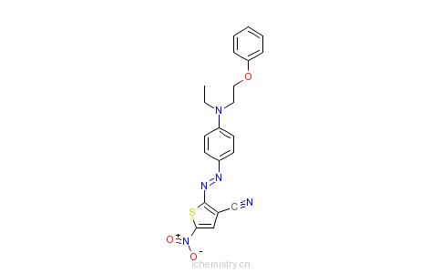 CAS:93069-15-9_2-[[4-[乙基(2-苯氧基乙基)氨基]苯基]偶氮]-5-硝基-3-氰基噻吩的分子结构