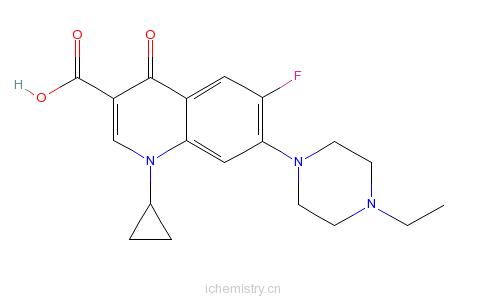 CAS:93106-60-6_恩诺沙星的分子结构