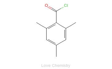 CAS:938-18-1_2,4,6-三甲基苯甲酰氯的分子结构