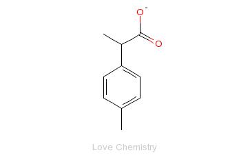 CAS:938-94-3_2-(4-甲基苯基)丙酸的分子结构