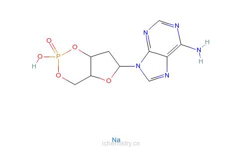 CAS:93839-95-3_2�@-脱氧腺苷-3�@,5�@-环磷酸钠盐的分子结构