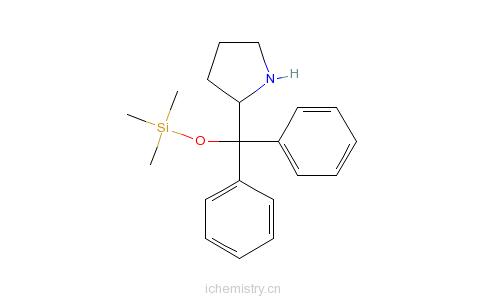 CAS:943757-71-9_(2R)-2-[二苯基[(三甲基硅酯)氧基]甲基]-吡咯烷的分子结构