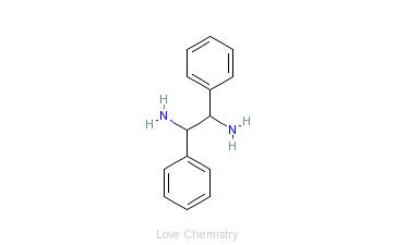 CAS:951-87-1_1,2-二苯基乙二胺的分子结构