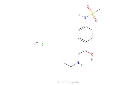 CAS:959-24-0_盐酸索他洛尔的分子结构