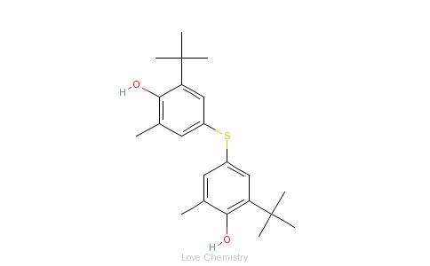 CAS:96-66-2_4,4'-硫联二(6-叔丁基-2-甲基苯酚)的分子结构
