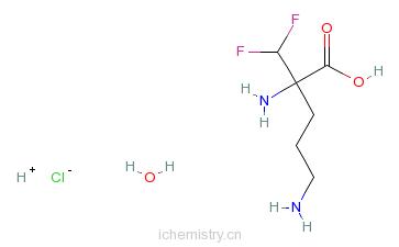 CAS:96020-91-6_依氟鸟氨酸盐酸盐一水合物的分子结构