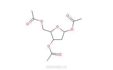 CAS:96291-75-7_1,3,5-三乙酰基-2-脱氧-beta-D-赤式戊呋喃糖的分子结构