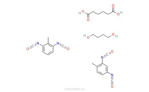 CAS:96446-47-8_己二酸与1,4-丁二醇、2,4-二异氰酸根合甲苯及2,6-二异氰酸根合甲苯的聚合物的分子结构