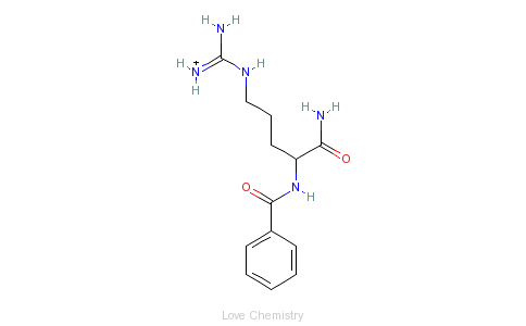 CAS:965-03-7_N-α-苯甲酰-L-精氨酰胺盐酸盐的分子结构