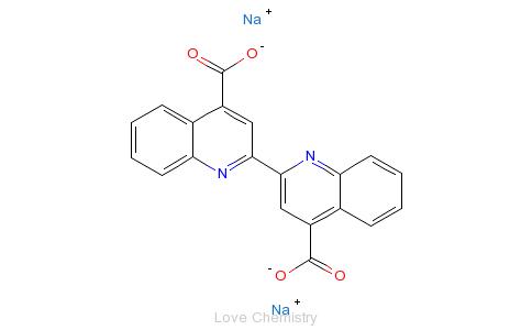 CAS:979-88-4_2,2'-联喹啉-4,4'-二羧酸二钠的分子结构