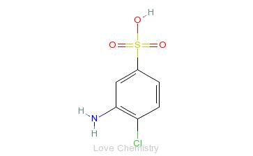 CAS:98-36-2_3-氨基-4-氯苯磺酸的分子结构