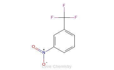 CAS:98-46-4_间硝基三氟甲苯的分子结构