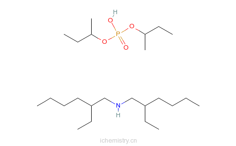 CAS:98510-86-2_双(仲丁基)磷酸氢酯与2-乙基-N-2(乙己基)己胺的化合物的分子结构