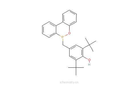 CAS:98516-99-5_10-(3,5-二叔丁基-4-羟基苄基)-9,10-二氢-9-氧杂-10-磷杂菲-10-氧化物的分子结构