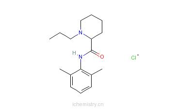 CAS:98717-15-8_盐酸罗哌卡因的分子结构