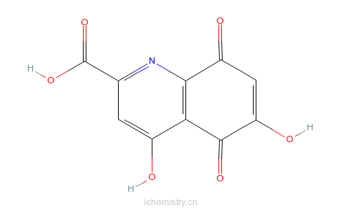 CAS:98948-82-4_5,8-二氢-4,6-二羟基-5,8-二氧代-2-喹啉羧酸的分子结构