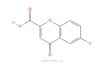CAS:99199-59-4_6-氟-4-氧代-4H-1-苯并吡喃-2-羧酸的分子结构