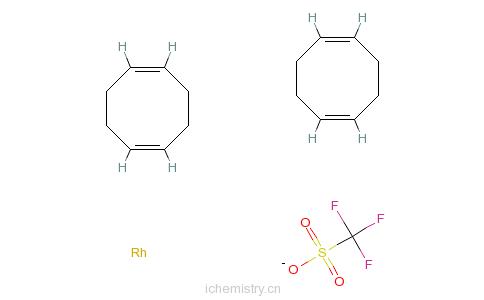 CAS:99326-34-8_双(1,5-环辛二烯)-三氟甲磺酸铑的分子结构