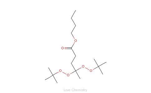 CAS:995-33-5_4,4-二(叔丁基过氧化)戊酸正丁酯的分子结构
