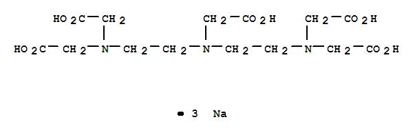 CAS:13078-36-9_N,N-二[2-双(羰甲基)胺基]乙基甘氨酸三钠盐的分子结构