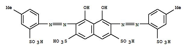 CAS:14979-11-4_4,5-二羟基-3,6-双[(4-甲基-2-磺基苯基)偶氮]-2,7-萘磺酸的分子结构