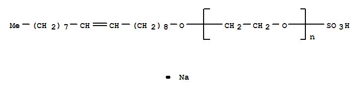 CAS:27233-34-7_α-磺基-ω-[(Z-)9-十八烯氧基]-聚氧乙烯钠的分子结构