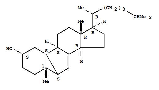 CAS:63902-44-3_5-甲基-(2α,5β,6β,10α)-6,10-环-19-降胆甾-7-烯-2-醇的分子结构