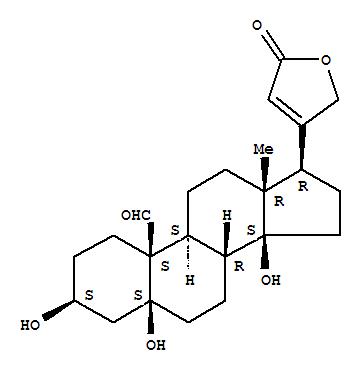CAS:66-28-4_毒毛旋花子苷元的分子结构