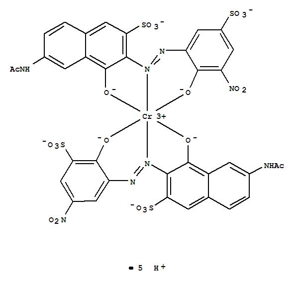 CAS:68922-28-1_五氢化[6-乙酰氨基-4-羟-3-[(2-羟-3-硝基-5-磺苯基)偶氮]-2-萘磺酸根合][6-乙酰胺基-4-羟基-3-[(2-羟基-5-?的分子结构