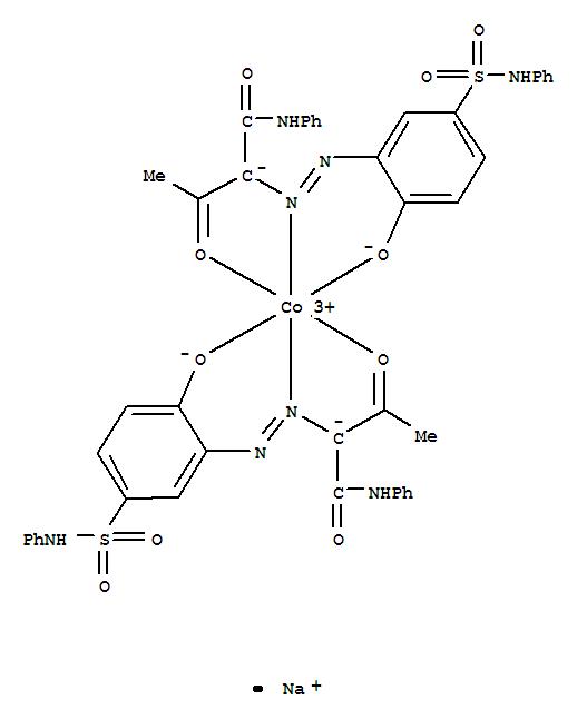 CAS:71562-83-9_双[2-[[2-羟基-5-[(苯氨基)磺酰基]苯基]偶氮基]-3-氧代-N-苯基丁酰胺]合钴酸钠的分子结构