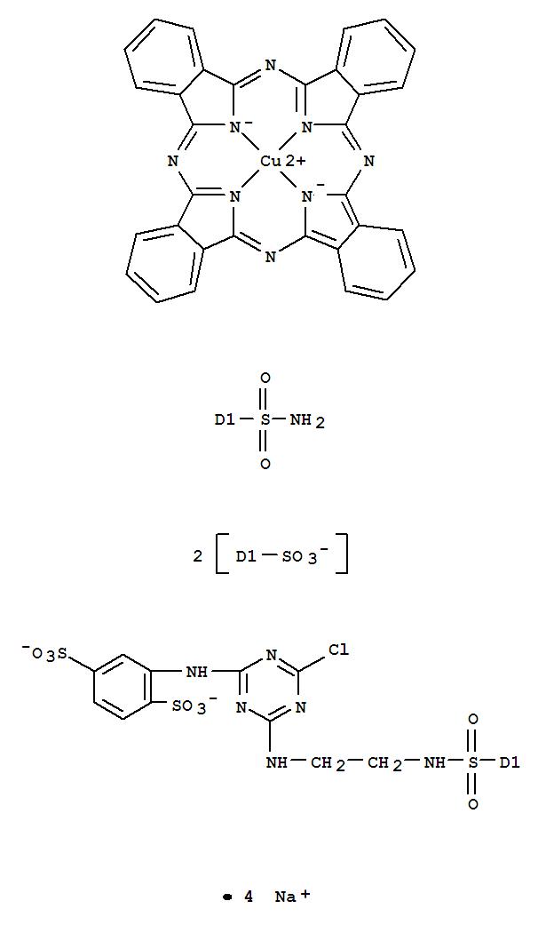 CAS:74449-66-4_C.I.活性蓝15的分子结构