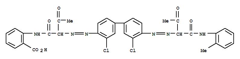 CAS:76619-25-5_2-[[2-[[3,3'-二氯-4'-[[2-氧代-1-[(2-甲基苯基氨基)羰基]丙基]偶氮][1,1'-联苯]-4-基]偶氮]-1,3-二氧代丁?的分子结构